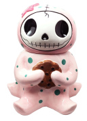 Furry Bones Octopee Ceramic Cookie Jar Collectible Kitchen Hosting Dining Accessory Cute Pink Octopus Skeleton Figurine