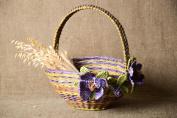 Unusual handmade paper basket newspaper craft decorative basket modern designs