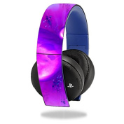 MightySkins Protective Vinyl Skin Decal Cover for Sony PS4 Gold Wireless Headset Headphones Sticker Skins Purple Heart