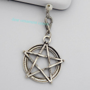 Silver Five-pointed Star Charms - Cell Phone Dust Plug/ Earphone Jack Plug ,Anti-dust Plug Ear Cap 3.5mm for Iphone Ipod.for for for for for for for for for Samsung 65292; Nokia and Htc