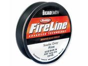 Beadsmith FireLine Braided Beading Thread 2.7kg Test Smoke Grey .006 In 125 Yards
