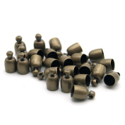 20 Pcs Decorative DIY Crafts Bowl Shaped Bronze Colour Stainless Metall Bells