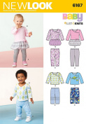 Simplicity Creative Patterns New Look 6167 Babies' Knit Separates, A
