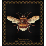 Thea Gouverneur 18 Count Bumble Bee on Aida Counted Cross Stitch Kit, 20cm x 21cm