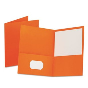 OXFORD 57510 Twin-Pocket Folder, Embossed Leather Grain Paper, Orange