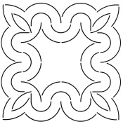 Golden Threads Curves Block Quilt Stencil, 23cm