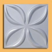 Lotus White (50cm x 50cm Foam) Ceiling Tile - High Density Foam
