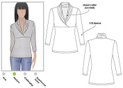 Style Arc Sewing Pattern - Kendall Knit Top (Sizes 18-30) - Click for Other Sizes Available