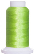 1M-3155 BFC Poly Machine Embroidery Thread, 40 Wt, 1000m, Bright Lime