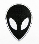 Black Alien Patch Iron on Patch Embroidered Iron on Hat Jacket Hoodie Backpack Ideal for Gift /5.5cm(w) X 7.7cm