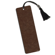 Leather Look Printed Bookmark with Tassel