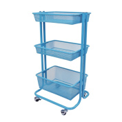 Luxor Kitchen Utility Cart in Blue