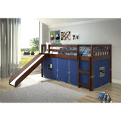 Donco Kids Mission Tent Loft Dark Cappuccino Twin Bed with Slide