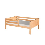 Camaflexi Twin-size Natural Finish Day Bed with Front Guard Rail and Panel Headboard
