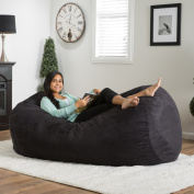 Christopher Knight Home Asher Faux Suede 2m Lounge Beanbag Chair