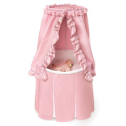 Round Baby Bassinet with Empress Pink Bedding