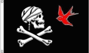 Jack Sparrow Pirate Jolly Roger Skull and Crossbones Banner 1.5mx0.9m Flag by 1000 Flags Limited