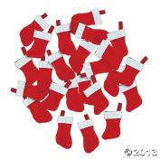 Mini Christmas Stockings - 24 pcs