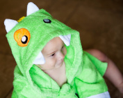 Baby-Steps, Green Monster Hooded Bathrobe and Towel, 0-12 Months, Bath Robe Baby Shower. Gift Box with Purchase!