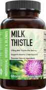NatureNow® Milk Thistle Extract For Healthy Liver Function Care & Support - Best Organic Herb Supplement Formula For Cleanse, Detox & Hangover Helper - Natural Super Powder Capsules With Silymarin