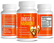 Best Omega 3 Fish Oil Pills | Improve Cardiovascular Health, Brain Function, Skin Health, and Many More | 120 Softgels | Tested for Heavy Metals | 1,500mg Omega 3 Fatty Acids Per Serving