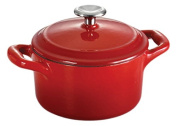 Tramontina Enamelled Cast Iron Covered Mini Cocotte, 310ml, Gradated Red