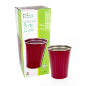 Stainless Steel Party Cups for Super Bowl- Unbreakable Solo Style 470ml Cups (6 pack)- Dishwasher Safe by D'Eco