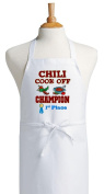 First Place Chilli Cook Off Champion White Bib Aprons