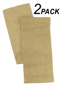Cotton Craft - 2 Pack - Jute Burlap Table Runner 12x108 - Natural - Perfect accessory to dress up your dinner table - Eco Friendly - Spot Clean Only