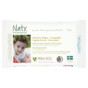 Naty by Nature Babycare Unscented Eco Wipes 56 g