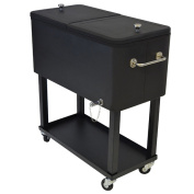 Premium Steel 75.7l Party Cooler Cart with Locking Wheels and 2.5cm Insulation