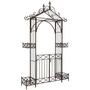 Safavieh Outdoor Living Destiny Rustic Brown Gated Arbour