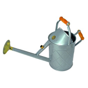 English Garden Haws Heritage 8.7l Galvanised Metal Watering Can with Wood Handles