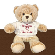 Personalised You and Me Valentine's Snuggle Teddy Bear - Brown, 33cm