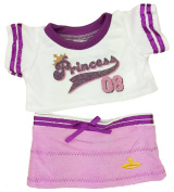 Purple Princess Tee & Mini Skirt Fits Most 36cm - 46cm Build-a-bear, Vermont Teddy Bears, and Make Your Own Stuffed Animals