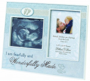 Lillian Rose Wonderfully Made Ultrasound Frame, Blue, 23cm x 18cm