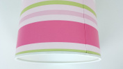 "12""/30 cm Paige stripes Green,Pink and White light shade / lampshade..Handmade."