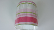 "8""/20 cm Paige stripes Green,Pink and White light shade / lampshade..Handmade."