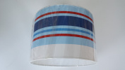 "16""/40 cm Paige stripes Blue ,Red and White light shade / lampshade..Handmade."