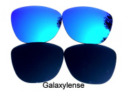Galaxylense Replacement Lenses for Oakley Frogskins Black & Blue Colour Polarised 2 Pairs