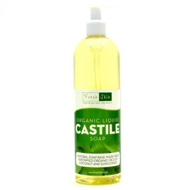 1 Litre Organic Castile Liquid Soap With Pump Dispenser.