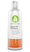 InstaNatural Argan Oil Shampoo - With 100% Certified Organic Moroccan Argan Oil & Vitamin B5 - Best Holistic Treatment for Soft & Silky Hair - Deluxe Nourishment to Hydrate Dry Scalp - 470ml