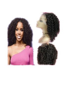 Hot selling 2015 !46cm Afro Kinky Curly Brazilian Virgin Hair Lace Front Wig 100% Human Hair Wigs with Natural Hairline and Baby Hair for Black Women by Royal-first