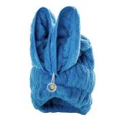 Bath Towel Hair Dry Hat Cap Hair Drying Towel Lady Bath Tool Rabbit Blue