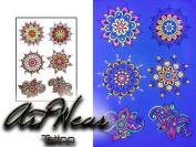 "UV Fluorescent Temporary Tattoo ""Fluo Mandala"" - ArtWear Tattoo Glow in The Dark - FLUO 14 M"