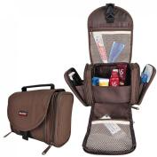 Travelmall Travel Toiletry Bag Organiser Bathroom for Women Makeup Men Shaving Kit with Hook Hanging lightweight Business Gift