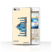 STUFF4 Phone Case / Cover for Huawei Ascend G6 4G / Taj Mahal / India Design / Landmarks Collection