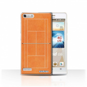 STUFF4 Phone Case / Cover for Huawei Ascend G6 4G / Orange Clay Court Design / Tennis Courts Collection