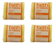 (4 PACK) - Faith Orange Soap | 100g | 4 PACK - SUPER SAVER - SAVE MONEY