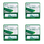 (4 PACK) - Aloe Vera Aloe Vera Lip Balm | 4g | 4 PACK - SUPER SAVER - SAVE MONEY